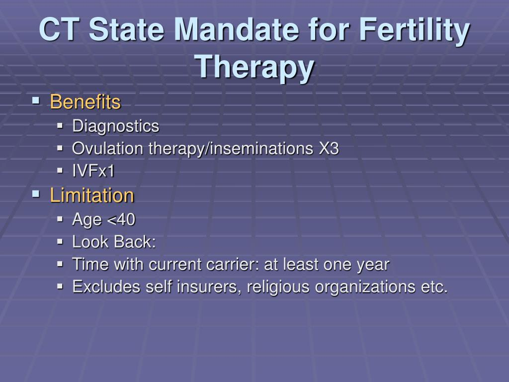 CT State Mandate for Fertility Therapy
