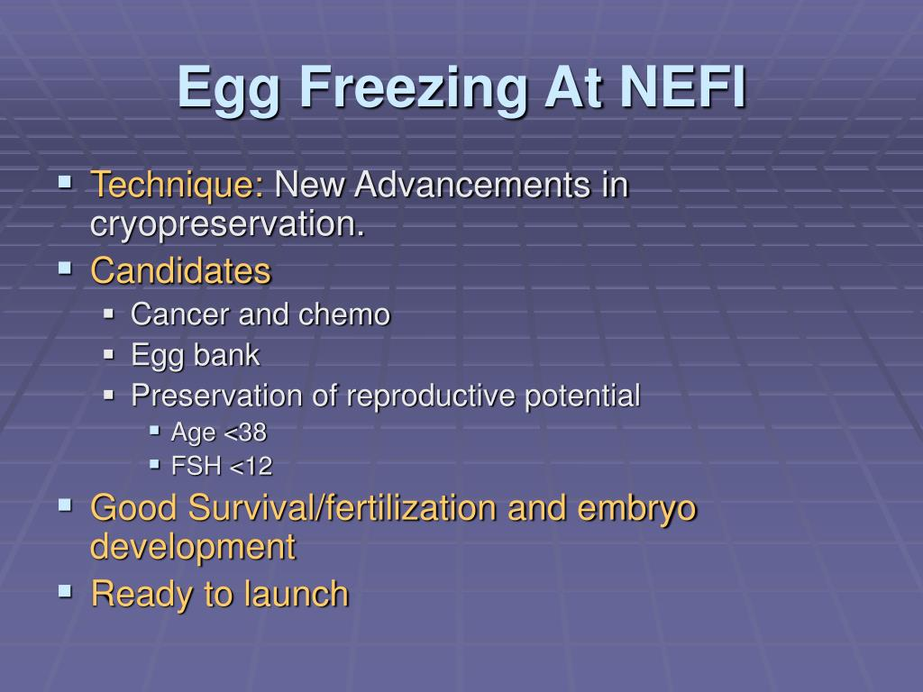 Egg Freezing At NEFI