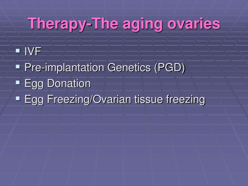 Therapy-The aging ovaries