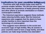 implications for poor countries today cont