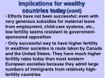 implications for wealthy countries today cont