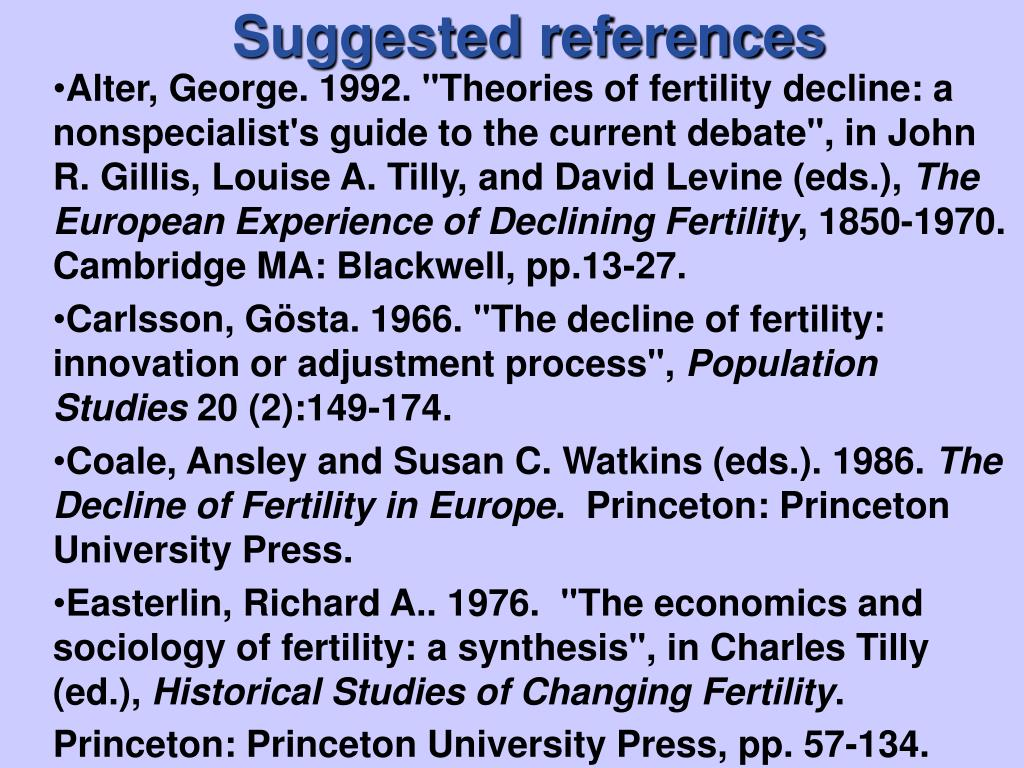 Suggested references