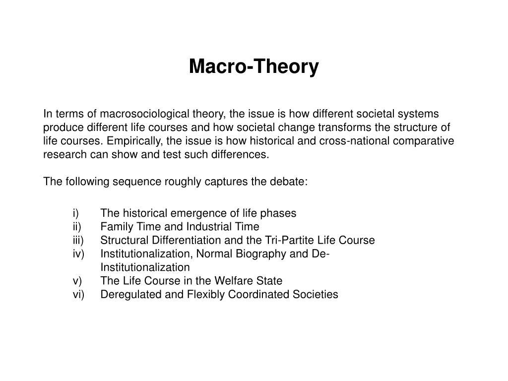 Macro-Theory