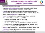 waste prevention and management program development