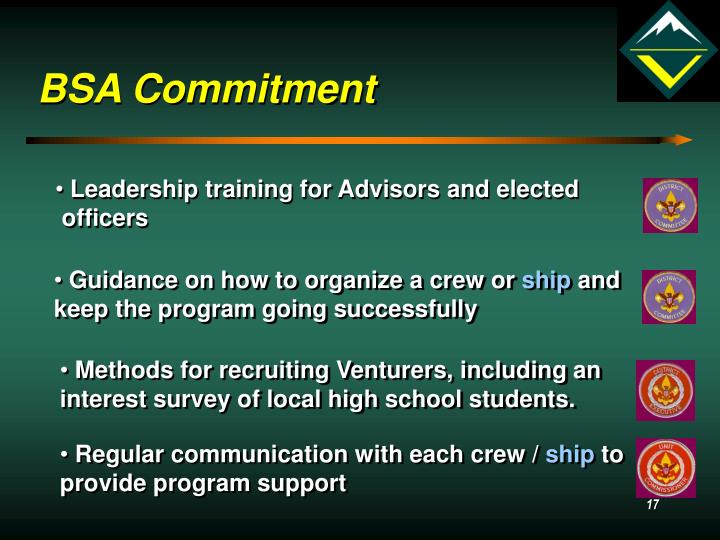 BSA Commitment