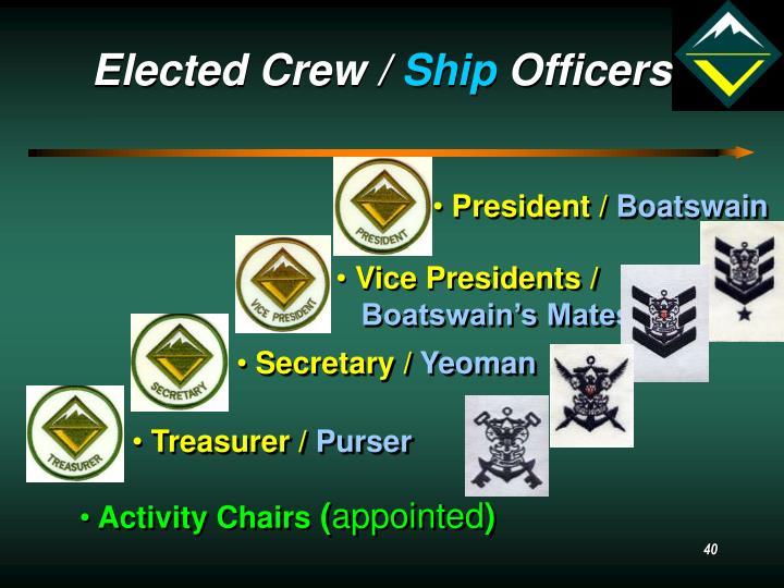 Elected Crew /