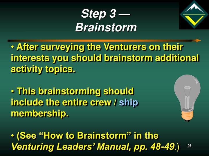 Step 3 — Brainstorm
