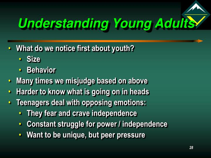 Understanding Young Adults