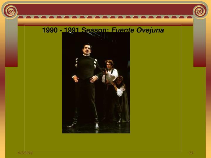 1990 - 1991 Season: