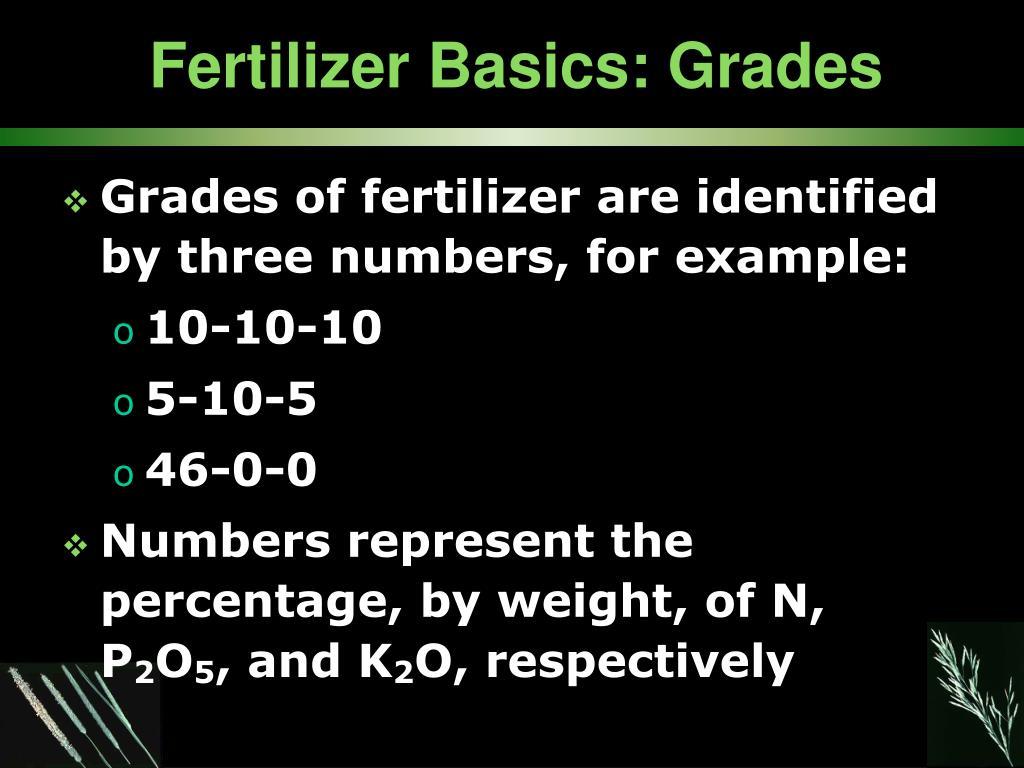 Fertilizer Basics: Grades