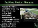 fertilizer basics manures30