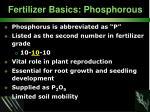 fertilizer basics phosphorous