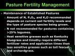 pasture fertility management34
