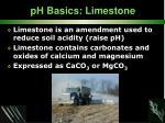 ph basics limestone