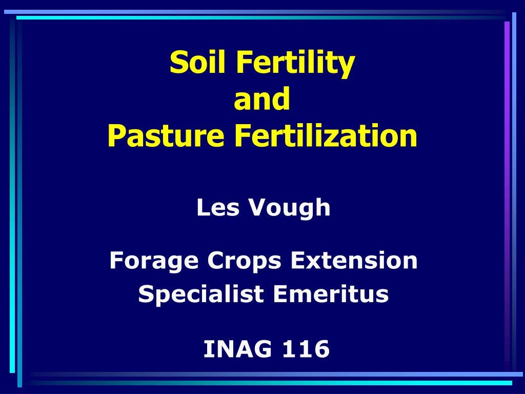soil fertility and pasture fertilization
