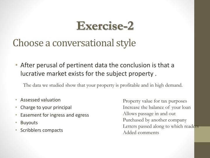 Choose a conversational style