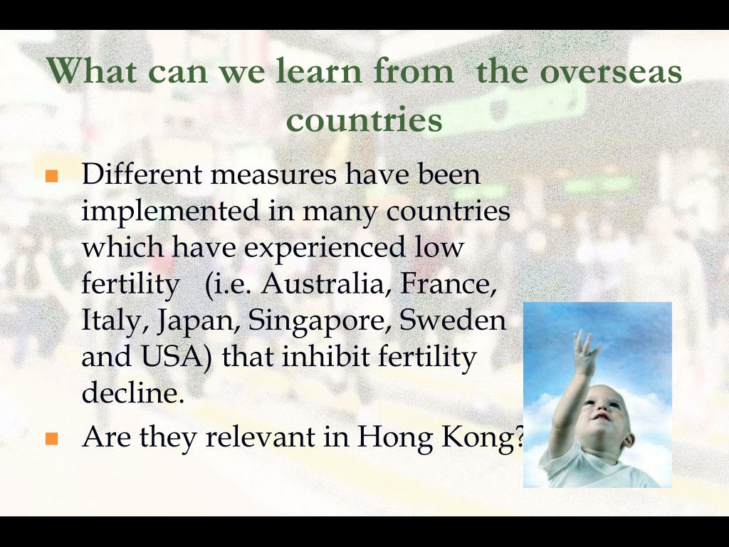 What can we learn from  the overseas countries