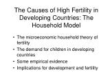 the causes of high fertility in developing countries the household model
