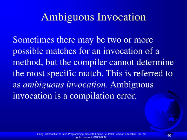 Ambiguous Invocation