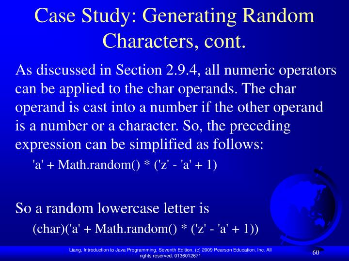Case Study: Generating Random Characters