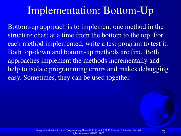 Implementation: Bottom-Up