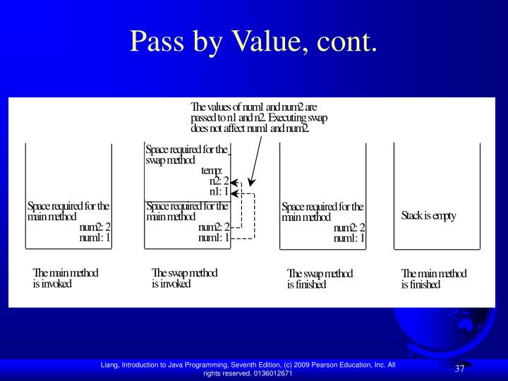 Pass by Value, cont.