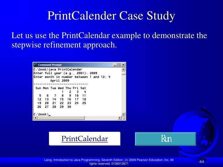 PrintCalender Case Study