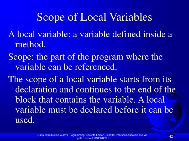 Scope of Local Variables