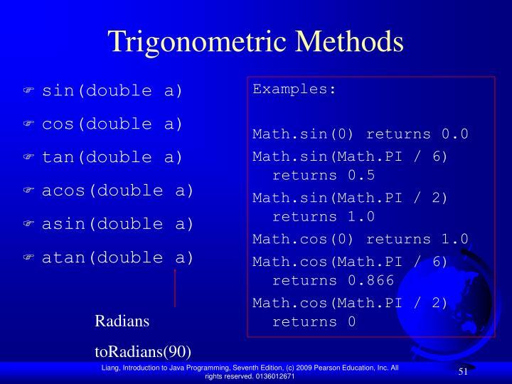 Trigonometric Methods