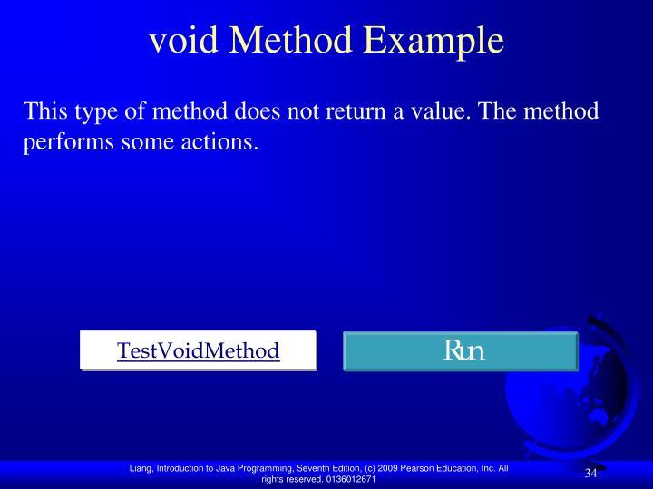 void Method Example