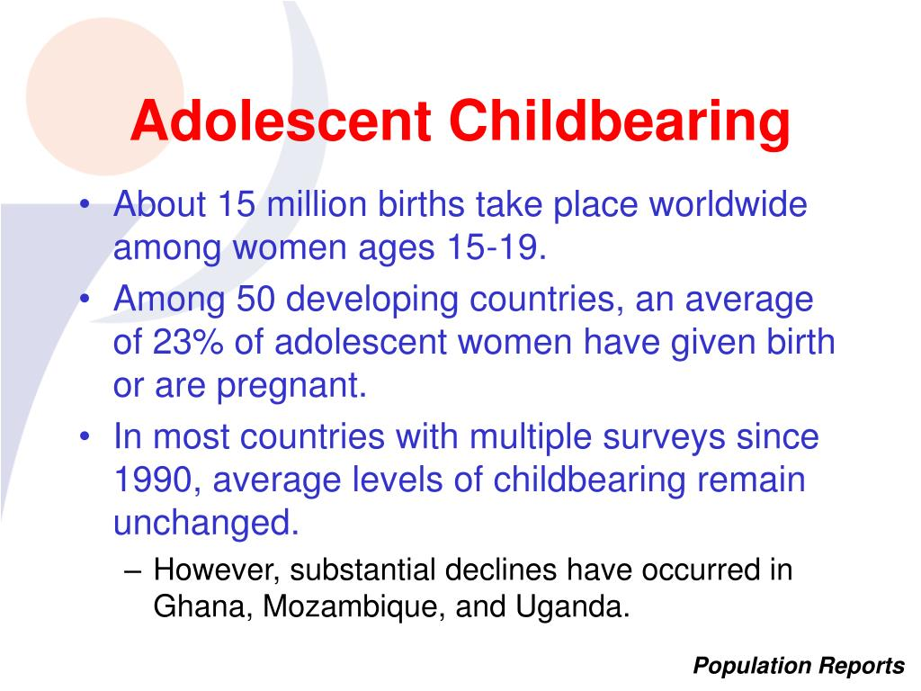 Adolescent Childbearing