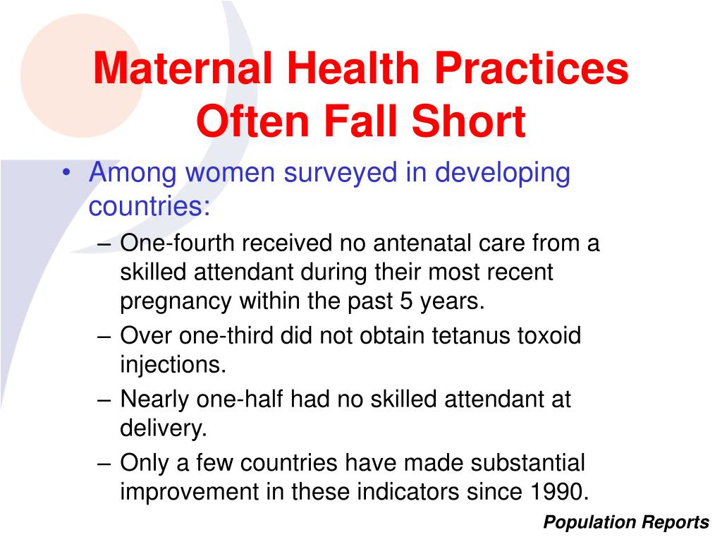 Maternal Health Practices Often Fall Short