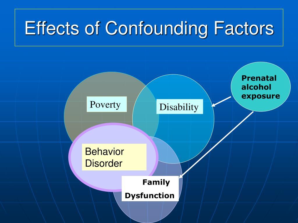 Effects of Confounding Factors