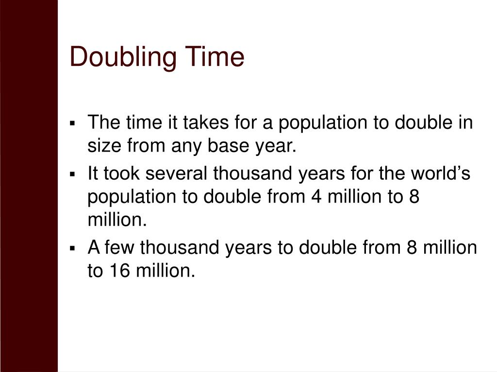 Doubling Time