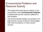 environmental problems and resource scarcity34