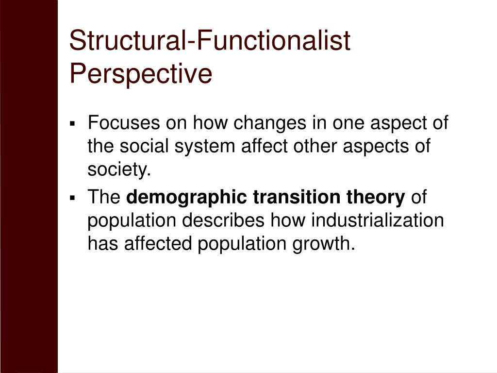 Structural-Functionalist Perspective