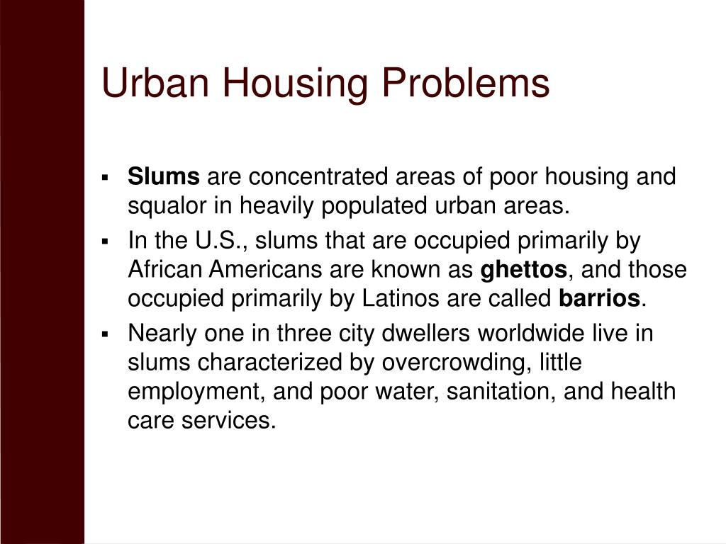 Urban Housing Problems