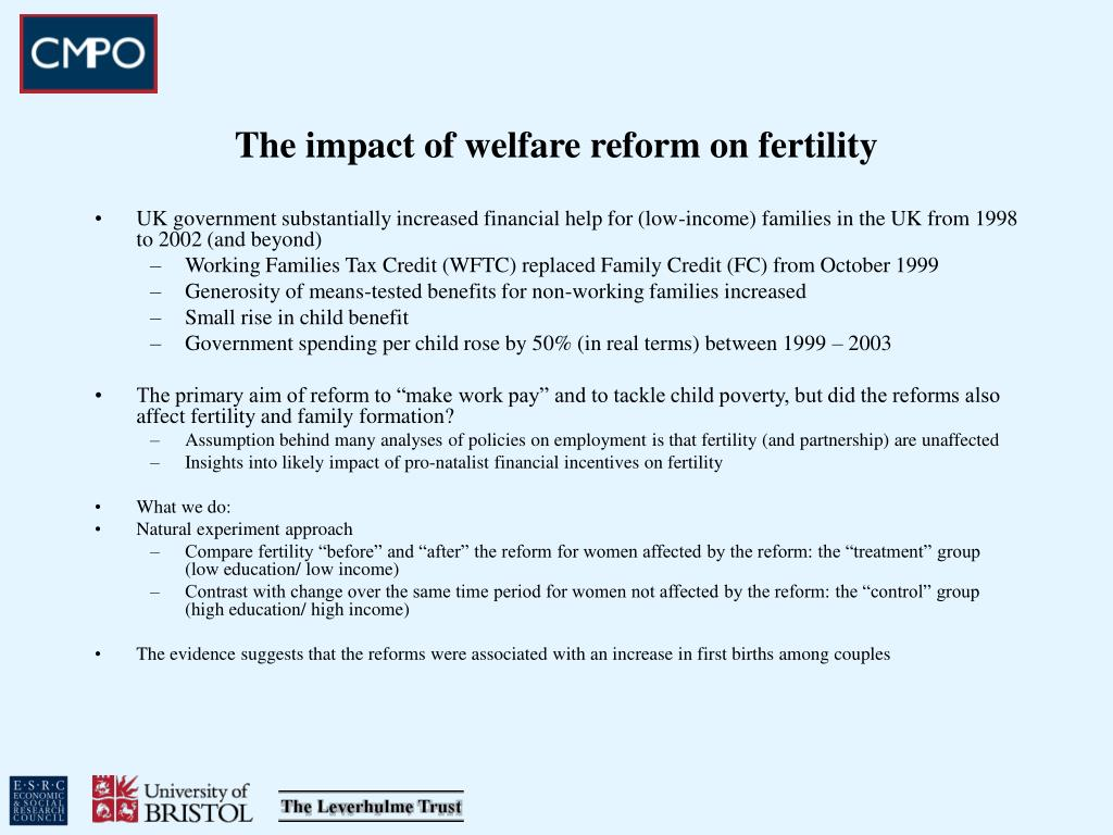 The impact of welfare reform on fertility