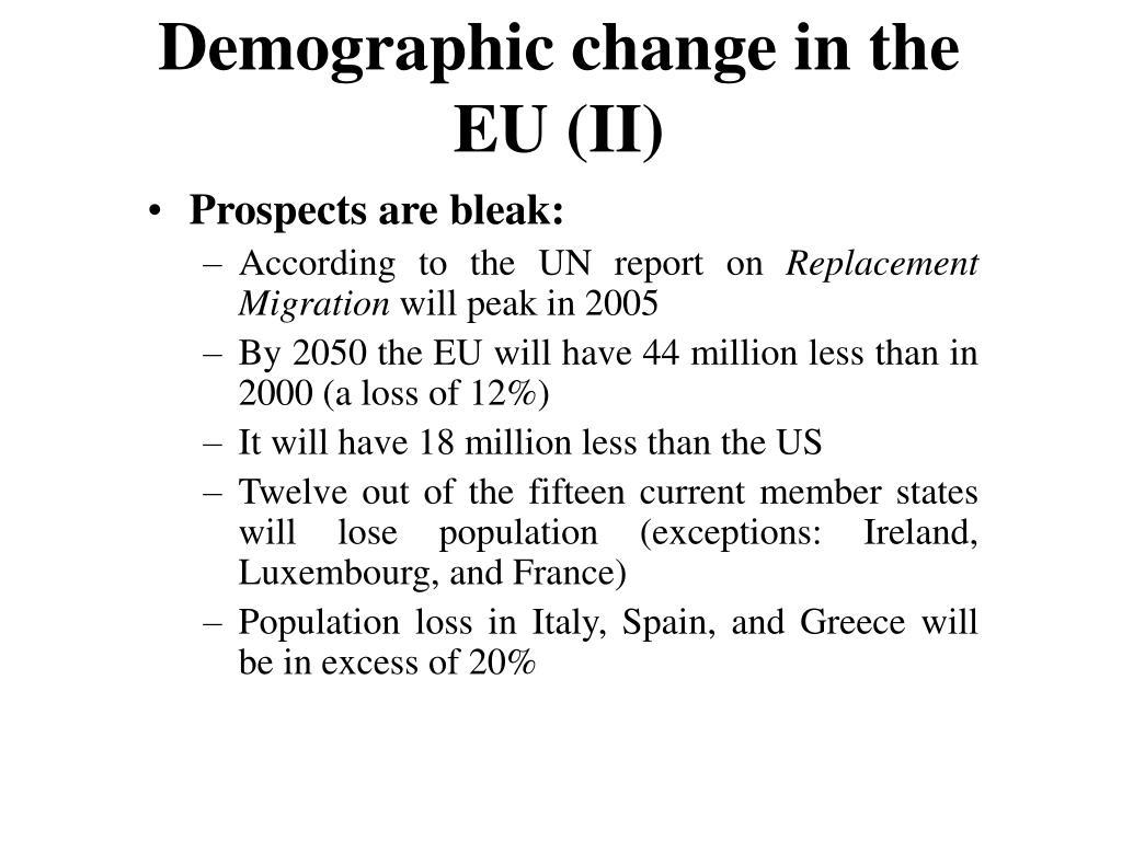 Demographic change in the EU (II)