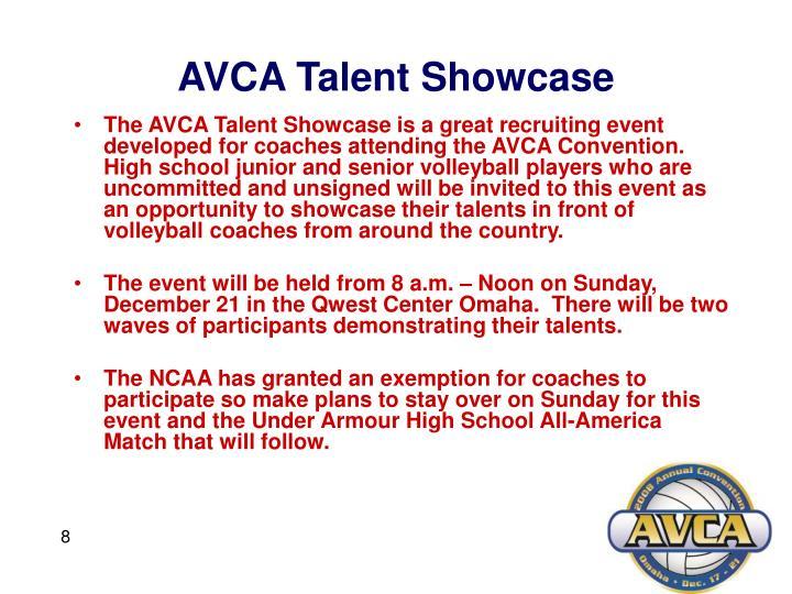 AVCA Talent Showcase