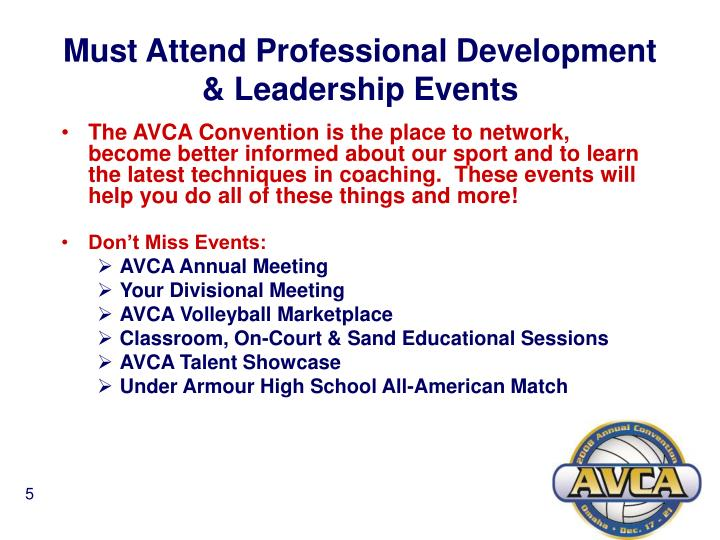 Must Attend Professional Development & Leadership Events