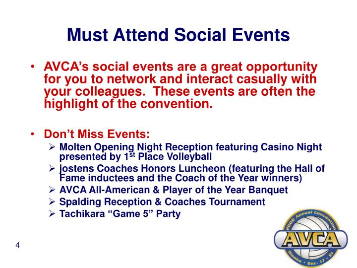 Must Attend Social Events