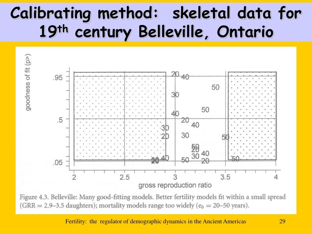 Calibrating method:  skeletal data for 19