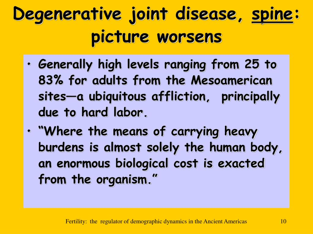 Degenerative joint disease,