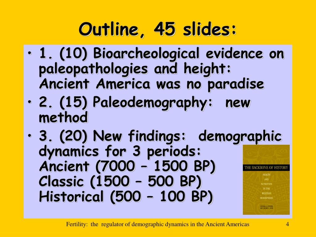 Outline, 45 slides: