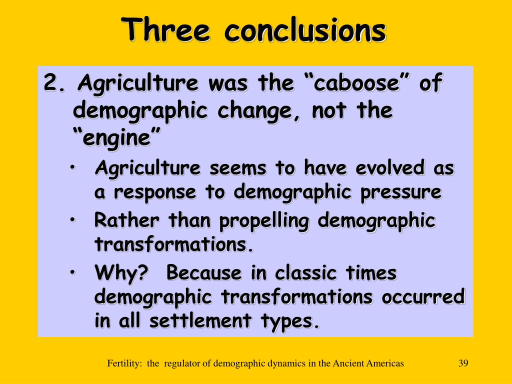 Three conclusions