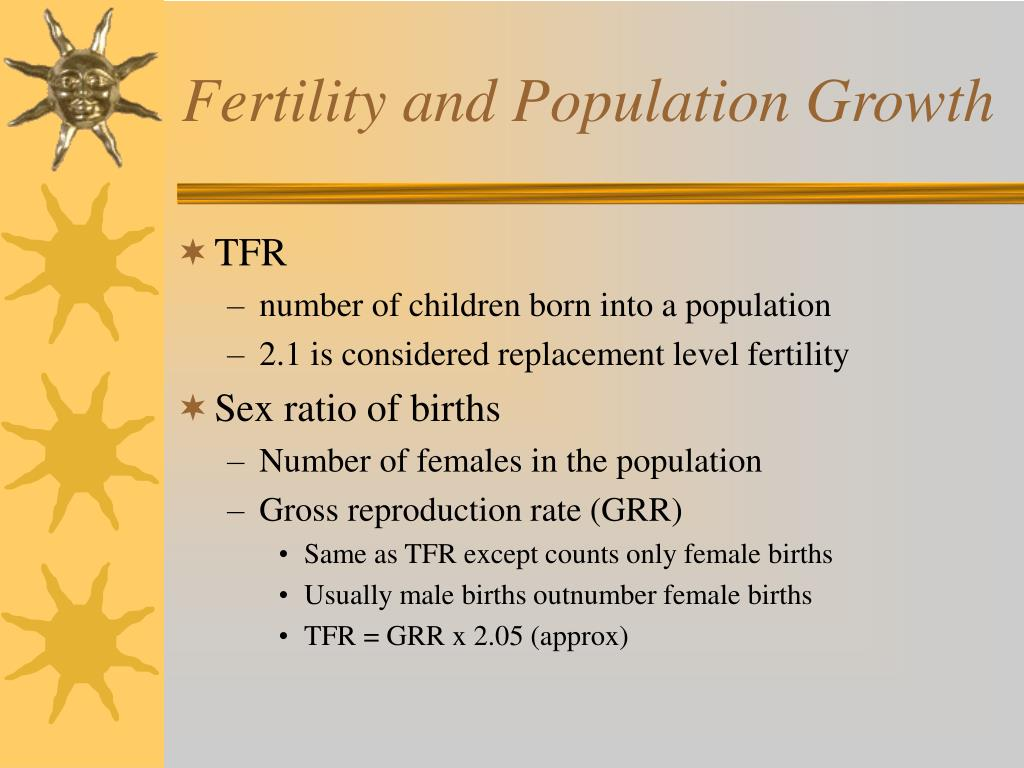 Fertility and Population Growth
