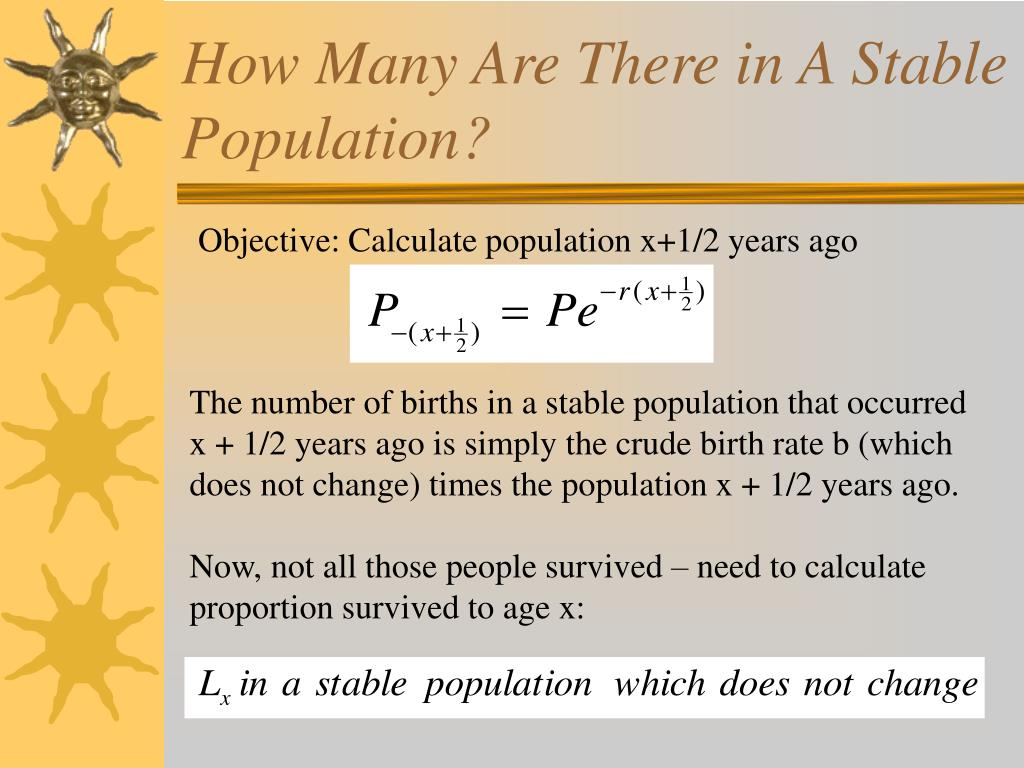 How Many Are There in A Stable Population?
