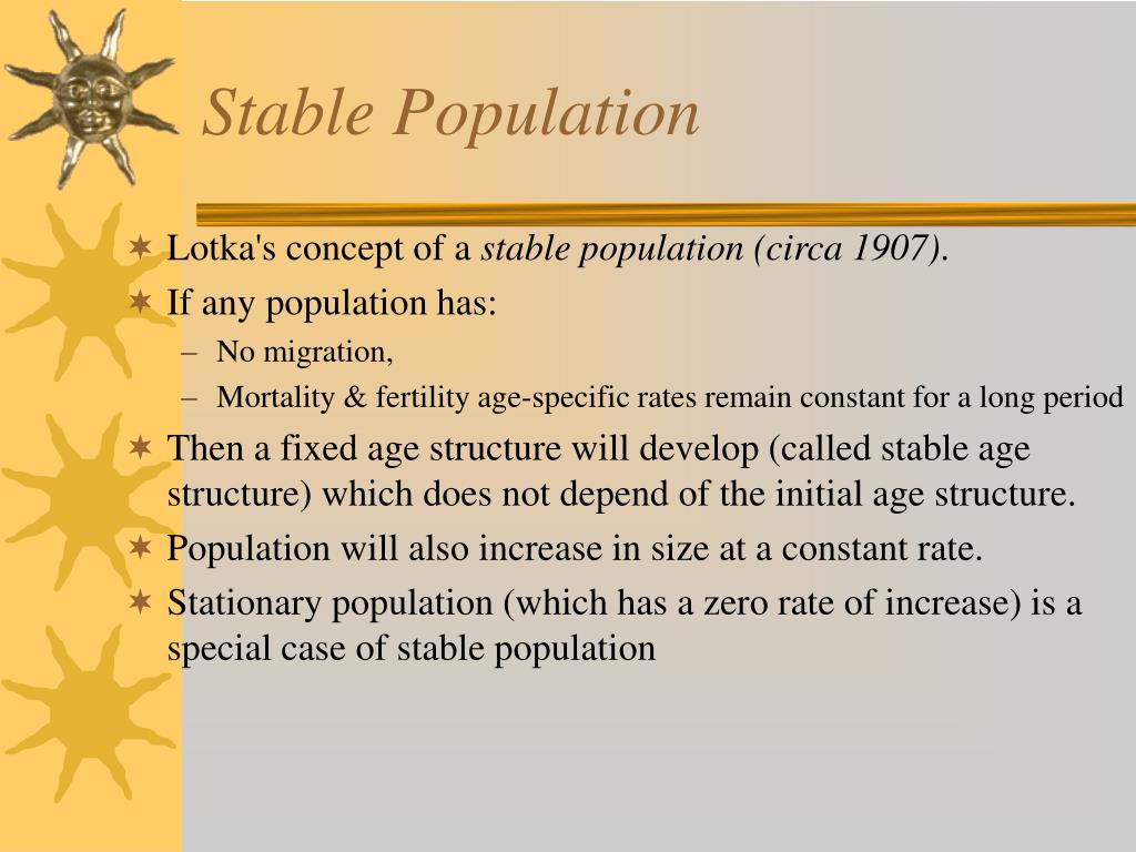 Stable Population