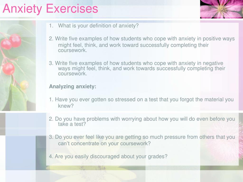 Anxiety Exercises
